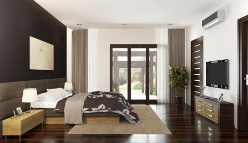 Giường và tủ trong phòng ngủ thường ưu tiên dùng gỗ. Có thể dùng gỗ tự nhiên hoàn toàn, hoặc dùng gỗ tự nhiên cho khung xương chịu lực, phần trang trí có thể kết hợp gỗ công nghiệp.