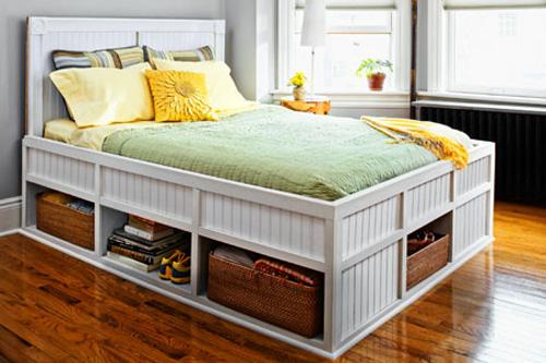 Gường cao với nhiều ngăn