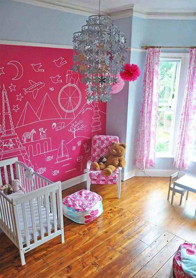 Với các căn phòng của con gái, bố mẹ có thể sử dụng bảng màu hồng dịu dàng.
