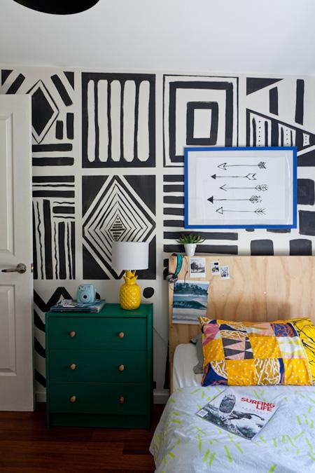 Giấy dán tường cũng là ý tưởng không hề tồi cho phòng ngủ của bạn