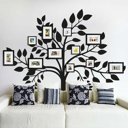 Phông nền trắng nên sử dụng cây màu đen tạo nên độ tương phản