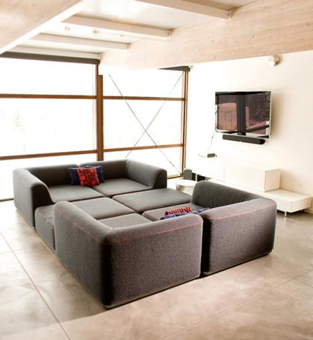 Biến bộ sofa thành chiếc giường ấm cúng