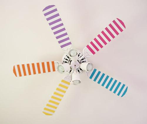 Tùy theo sở thích mà bạn có thể tạo ra những cánh quạt màu sắc.
