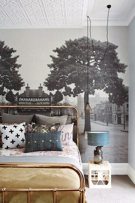 Một bức tranh sau giường là một ý kiến độc đáo
